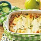 Die Pfannkuchenröllchen sind schön gefüllt, die Soße ist cremig, beim Käse wurde auch nicht gespart - Soulfood vom Feinsten. Zum Rezept: Kräuter-Crespelle mit Gorgonzola