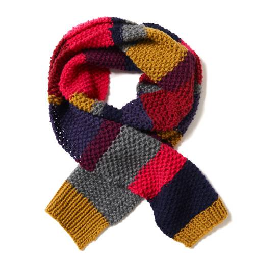 Dieser bunte Kaschmirschall ist ein perfekt wärmendes Accessoires für kalte Tage. Passt hervorragend zu einem schlichten Pullover oder Strickjacke. Zur Strickanleitung: Schal mit Streifen stricken