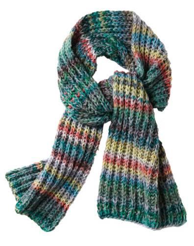Bunt wie das Leben und mit 220 Zentimetern extra lang: Diesen langen Schal stricken wir im Patentmuster. Zeitaufwand: etwa 14 Stunden.  Zur Anleitung: Einen langen Schal stricken.
