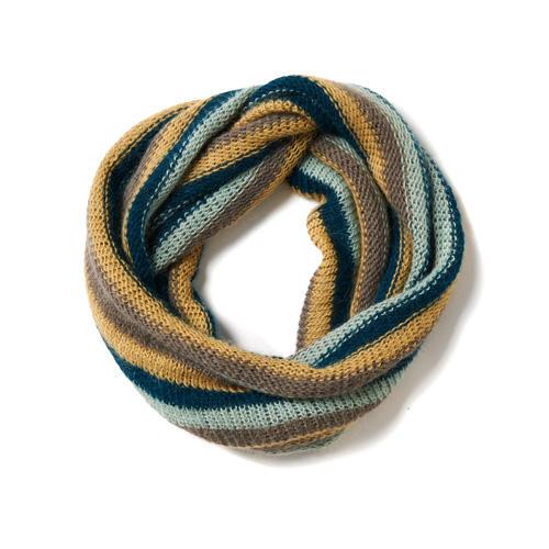 Loop mit Streifen stricken