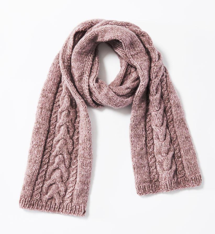 Schal mit Zöpfen stricken
