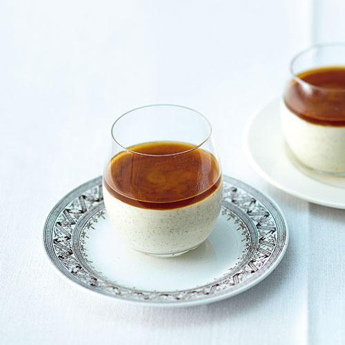5. Gang: Latte-macchiato-Pudding mit Espressogelee
