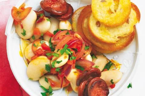 Bohnensalat mit Chorizo