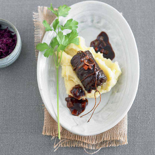 Rouladen mit Kartoffel-Sellerie-Püree