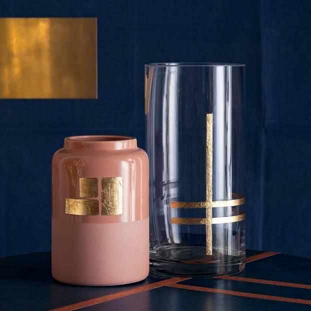 Vasen mit Golddekor verzieren