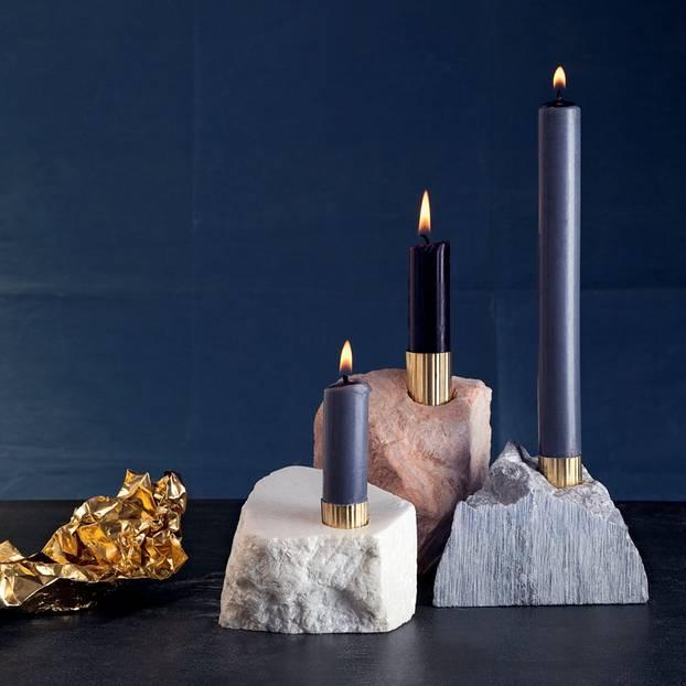 Kerzenständer aus Speckstein selber machen
