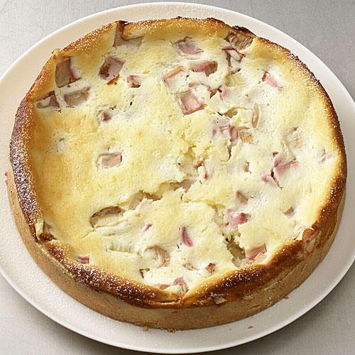 Käse-Rhabarberkuchen
