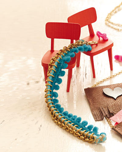 Pompon-Armband