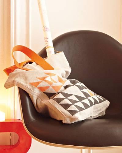 Stofftasche mit Stempeldruck