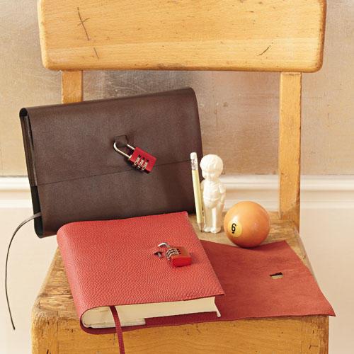 Notizbuch mit Schloss selber machen