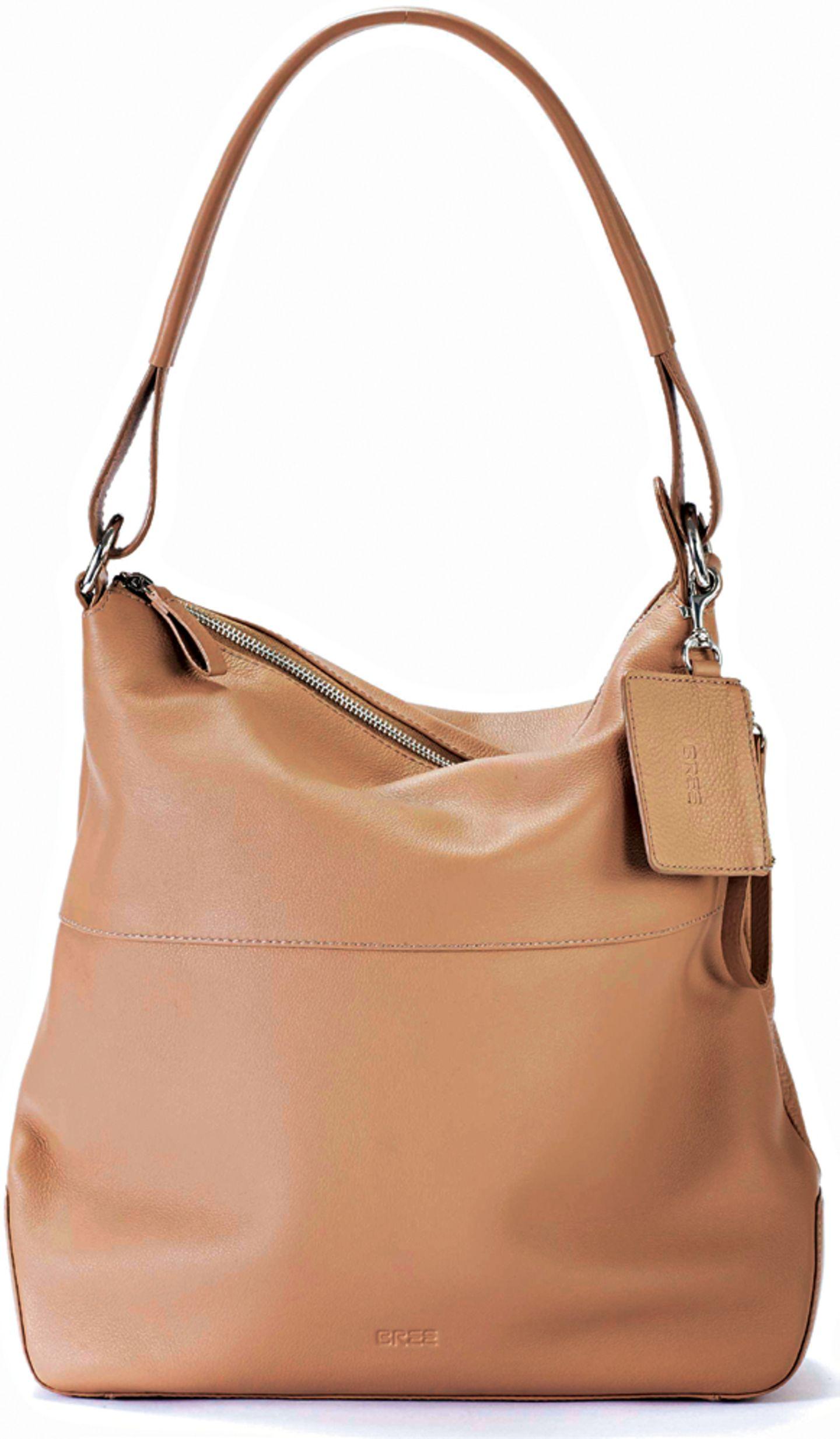 """Die Hobo Bag in der Farbe """"Fango"""" - hier bestellen."""