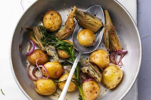 Neue Kartoffeln in köstlicher Begleitung