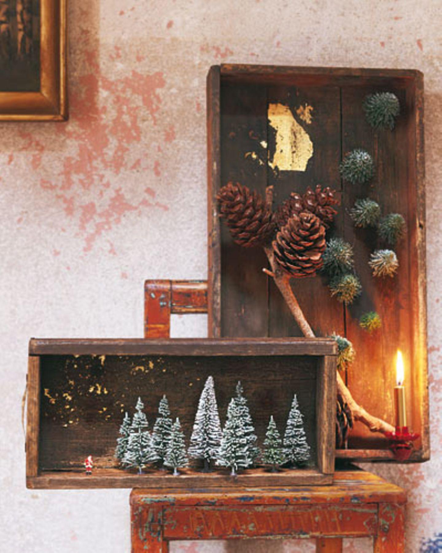 Wintermärchen - Deko-Kisten/-Schubladen