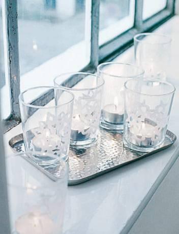 Eisblumen für Gläser