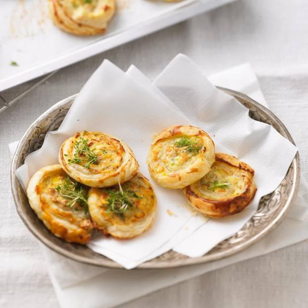 Fingerfood: Gefüllte Blätterteig-Schnecken