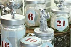 Adventskalender im Marmeladenglas
