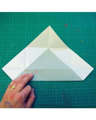 Papier falten für Schachtel