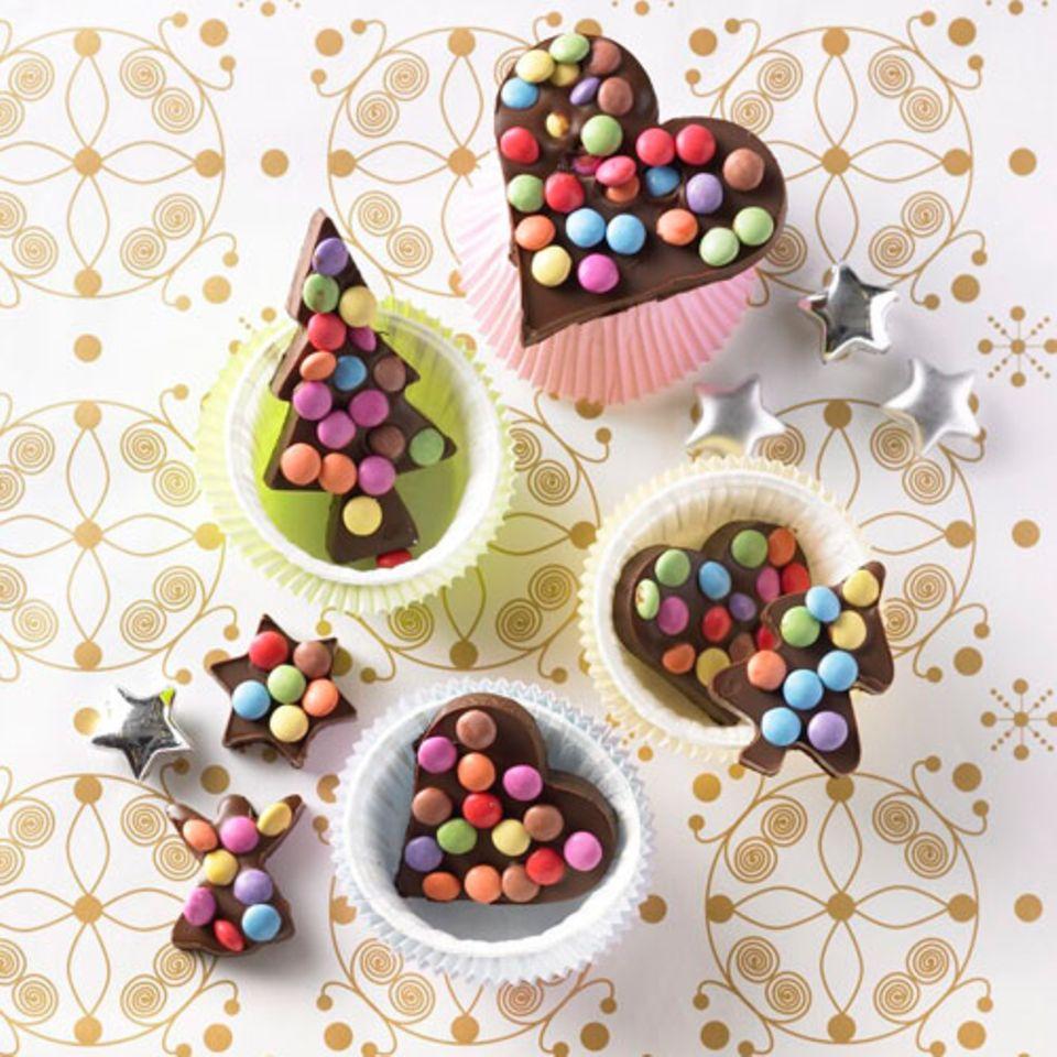 Bunte Schokoladen-Ausstecher