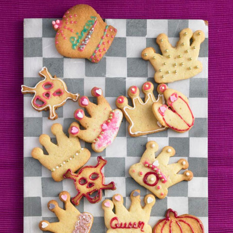 Kronen-Kekse für Prinzessinnen
