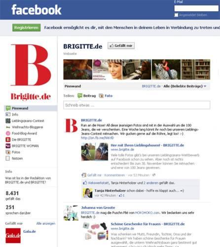 Humor: Natürlich ist auch BRIGITTE.de bei Facebook: Hier berichtet die Redaktion, was es Neues auf der Website gibt - und was gerade im Team los ist. Werden Sie jetzt Fan!    Mehr bei BRIGITTE.de:So vermeiden Sie Facebook-Fauxpas Die besten Karikaturen 2011 Machen oder lassen? Knigge für Soziale Netzwerke