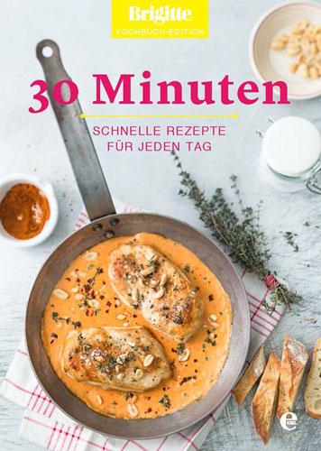 """Schnelle Küche: 65 köstliche schnelle Rezepte finden Sie im """"30 Minuten""""-Band der neuen BRIGITTE-Kochbuch-Edition. Die Kochbuch-Edition umfasst acht Bände und präsentiert die beliebtesten Rezepte aus BRIGITTE zu den Themen """"Veggie"""", """"Landküche"""", """"Festlich"""", """"Backofen"""", """"Balance"""", """"30 Minuten"""", """"Backen"""" und """"Pasta"""".    Die komplette BRIGITTE Kochbuch-Edition ist bereits ab 1. September 2014 exklusiv bei BRIGITTE.de bestellbar - versandkostenfrei und für nur und für nur 99,95 Euro. Sie sparen fast 20 Euro im Vergleich zum Einzelkauf. BRIGITTE-Abonnenten zahlen nur 89,95 Euro und sparen fast 30 Euro im Vergleich zum Einzelkauf. Im Buchhandel sind die Kochbücher erst zu einem späteren Zeitpunkt erhältlich - """"30 Minuten"""" ab Frühjahr 2015.     Mehr Infos zum Kochbuch """"30 Minuten""""    BRIGITTE Kochbuch-Edition zum Vorzugspreis bestellen"""