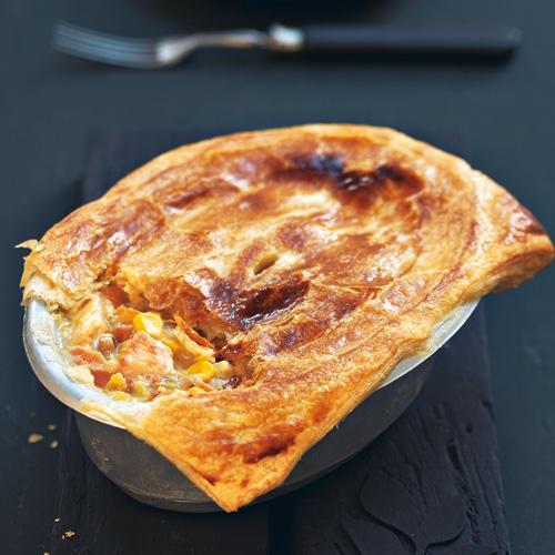 Rezepte für Pies: Hähnchen-Mais-Pie