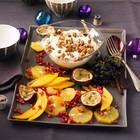 Quarkcreme mit Obstsalat