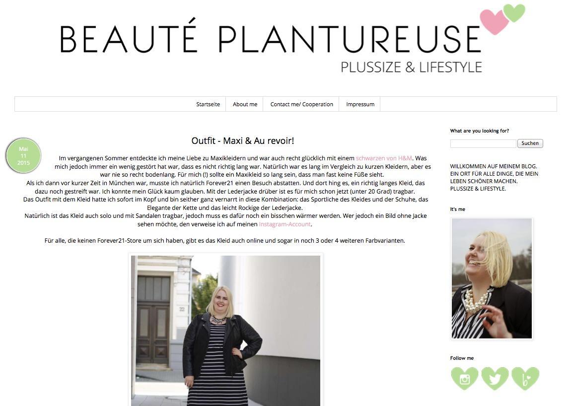 Plus-Size-Blog BEAUTÉ PLANTUREUSE
