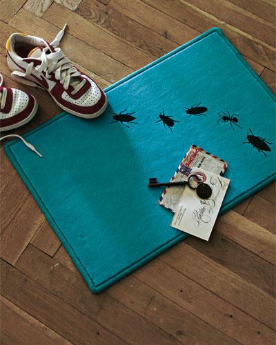 Willkommensgruß: Fußmatte selbst gestalten