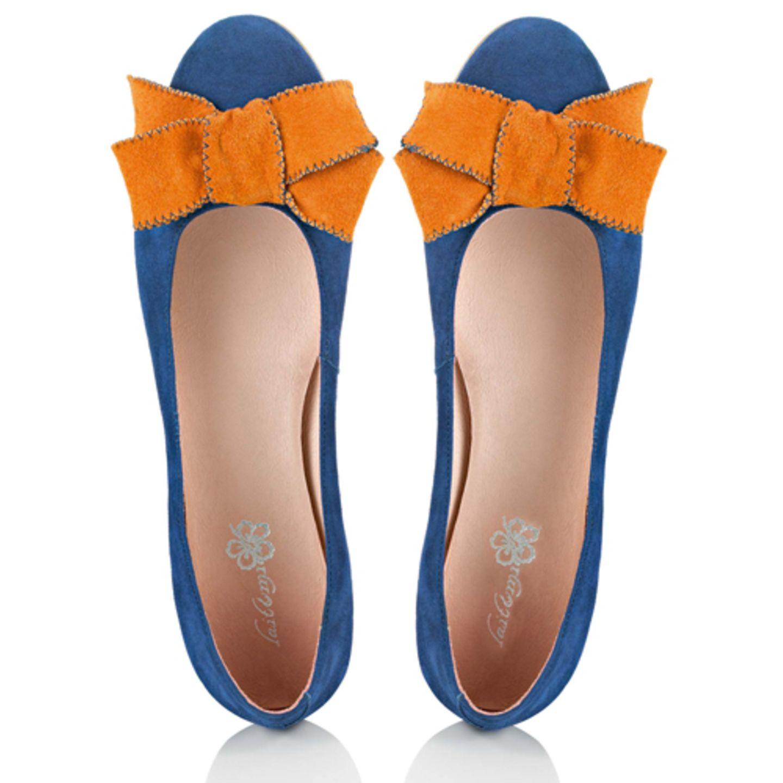 Ballerina blau orange