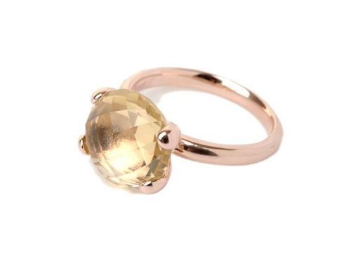 Ring roségold gelber Stein