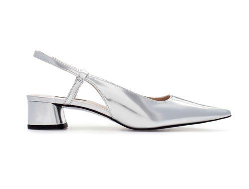 Zara-Schuhe Silber Metallic