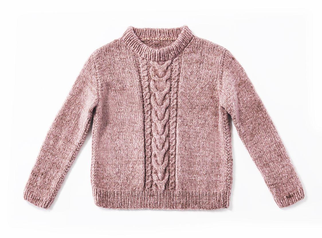 Pullover mit Zöpfen stricken