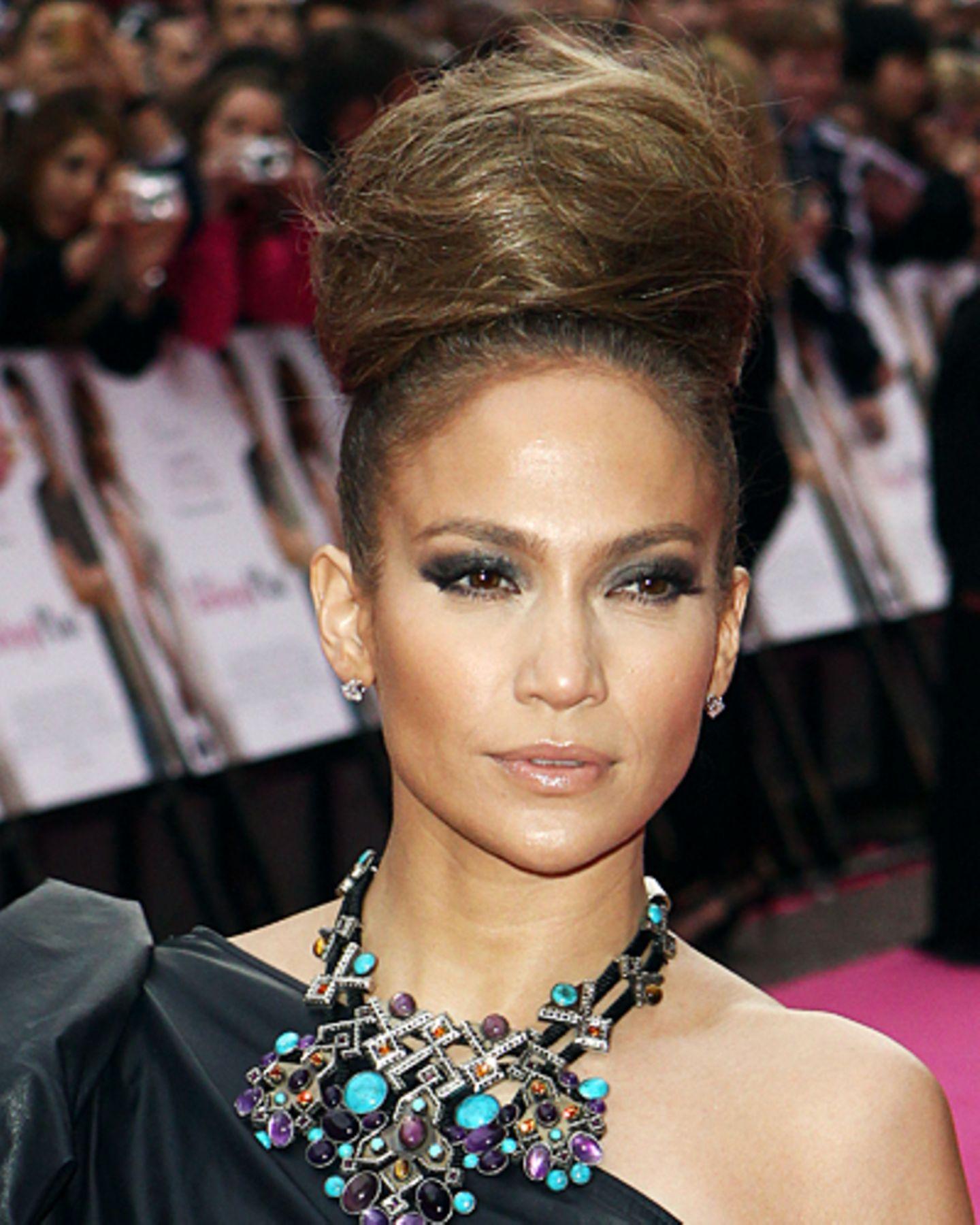 Promis mit Dutt: Jennifer Lopez