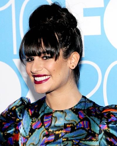 Promis mit Dutt: Lea Michele