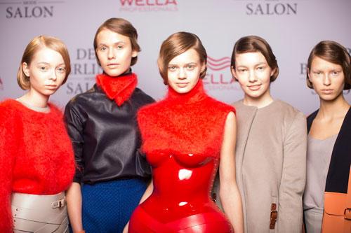 Frisuren und make up trends von der fashion week in berlin