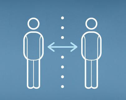 Abstand halten, Menschenansammlungen meiden