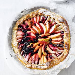 Apfel-Heidelbeer-Tarte