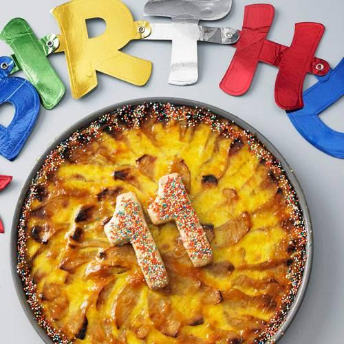 Apfel-Geburtstagstarte