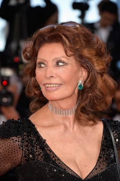 Genießen von Sophia Loren