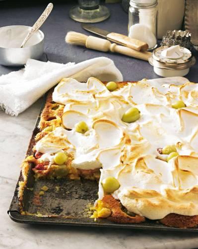 Stachelbeer-Baiser-Kuchen