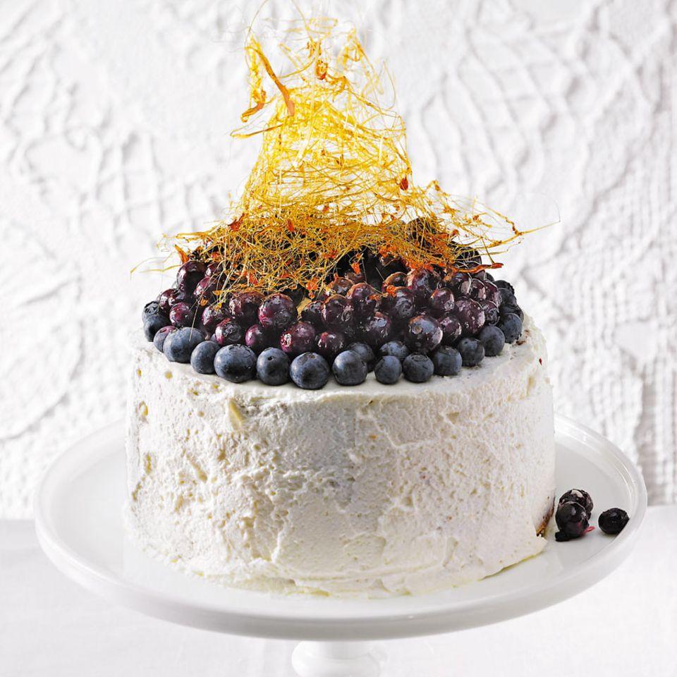 Angel-Cake mit Blaubeeren