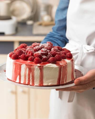 Zum Rezept: Himbeer-Jogurth Torte
