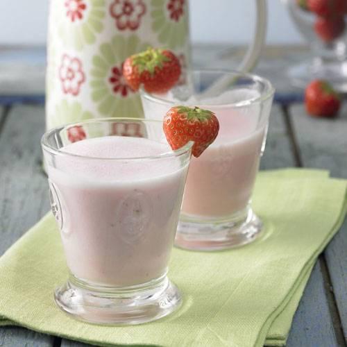 Erdbeer-Buttermilchmix