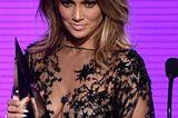 Jennifer Lopez trägt den Long-Gringe