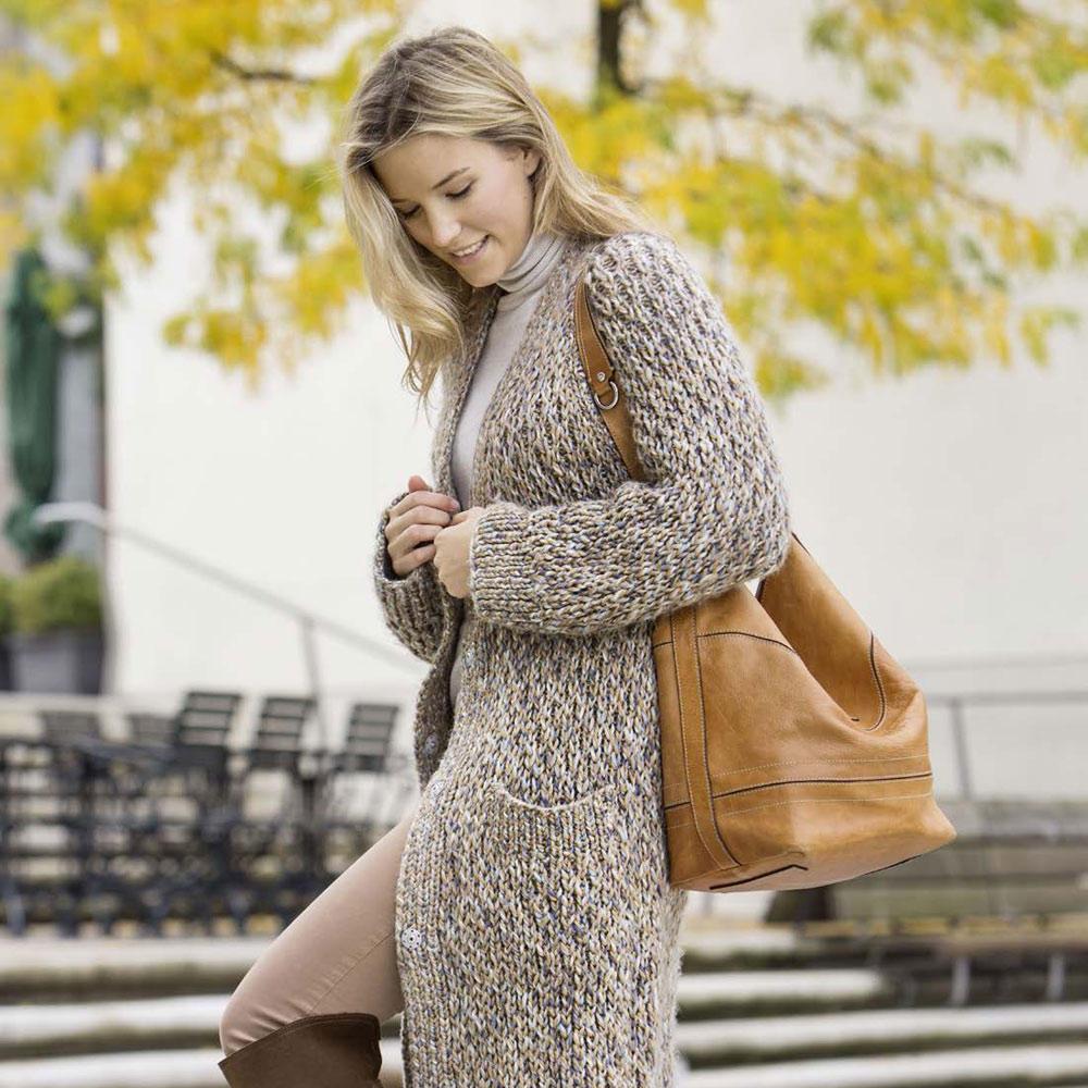Strickmuster Cardigan Damen - Sweater Tunic