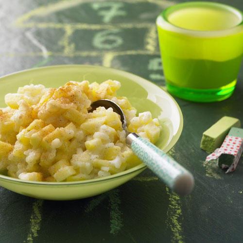 Milchreis mit Äpfeln