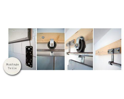 Schiebetürbeschlag stall  DIY-Idee: Schiebetür bauen: Von der Kellertür zur Wohnzimmertür ...