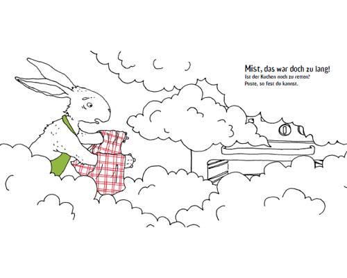 Das lustigste Bilderbuch 2012: Hier helfen die Leser dem Hasen beim Kuchenbacken...