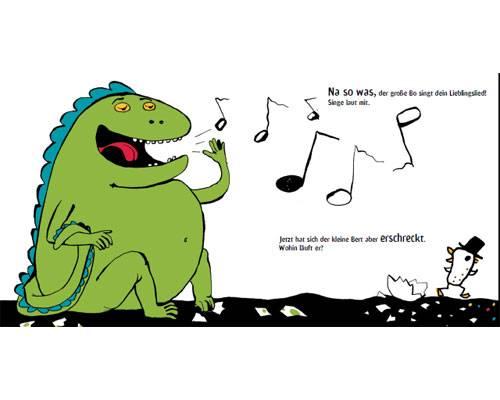 Das lustigste Bilderbuch 2012: Hier wird nicht einfach nur Seite für Seite geblättert und gelesen – das Buch fordert seine Leser auf, aktiv an der Geschichte mitzuwirken. Mal singt man dem großen Bo ein Lieblingslied vor...